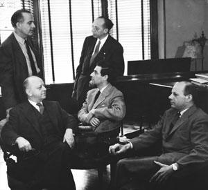 Virgil Thomson, Samuel Barber, Aaron Copland, Gian Carlo Menotti
