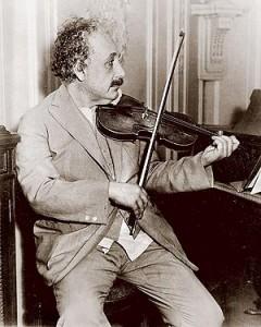 Albert Einstein in his studio, August 1944
